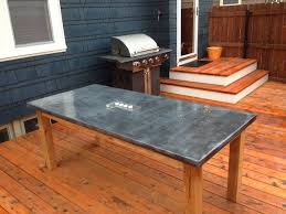 diy tabletop ideas. check out how to build a diy outdoor table with zinc tabletop diy ideas