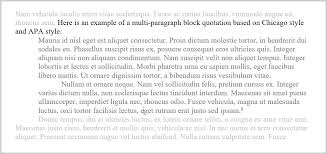 block quotations part how to format block quotations how to format block quoations block quotation multiple paragraphs chicago and apa styles