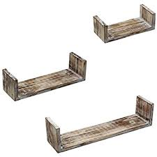 How To Attach Floating Shelves Stunning Amazon Vintage Rustic Torched Wood Hanging Wall Mount Floating