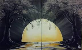 how to paint moon river painting