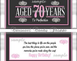 hershey candy bar wrapper 75th birthday party favors hersheys candy bar wrappers