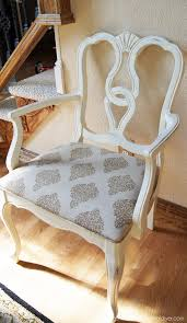 painting dining room chairs with annie sloan old white chalk paint to find fabric