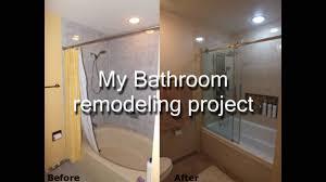 Bathroom Extraordinary Diy Bathroom Remodel For Your Home Idea Mesmerizing Youtube Bathroom Remodel