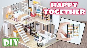 how to build miniature furniture. DIY Miniature Dollhouse Kit || Happy Together ( With Full Furniture And Light ) How To Build