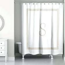 Beige shower curtains Linen Beige Shower Curtain Beige And White Letter Monogrammed Fabric Beige Ruffle Shower Curtain Beige Shower Curtain Stpeterschantillyinfo Beige Shower Curtain Image Extra Long Shower Curtain Liner Beige