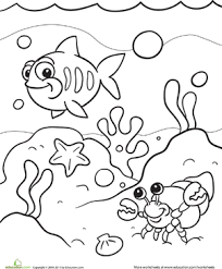 Small Picture Under the Sea Worksheet Educationcom