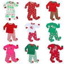 Trẻ Em Giáng Sinh Pyjama Bộ Bé Trai Sọc Bộ Pyjama Bé Gái Năm Mới Đồ Ngủ Trẻ  Em Trẻ Sơ Sinh Cho Bé Cotton Piajamas Quần Áo|Pajama Sets