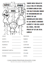 activity pages to print. Plain Print Click To Print The Super Mario Word Scramble Activity For Pages To Print