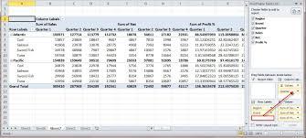 pivot table excel 2010
