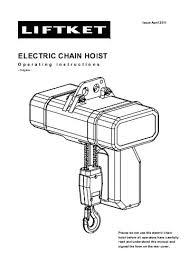 kito electric chain hoist eq Liftket Chain Hoist Wiring Diagram electric chain hoist liftket de 120 Volt Hoist Motor Wiring