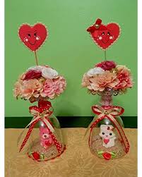 Sweet shabby chic valentines day decor ideas Heart Home Table Decor Sweet Cat Or Bear Artificial Flowers Arrangement Shabby Chic Souvenir Martha Stewart Cant Miss Deals On Home Table Decor Sweet Cat Or Bear Artificial