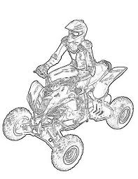 Coloring is a fun way to develop your creativity, your concentration and motor skills while forgetting daily stress. Quad Atv Transportation Printable Coloring Pages