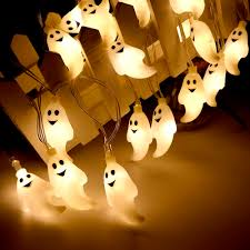 Outdoor Skull Lights Us 2 75 32 Off Cute Halloween Led String Light Ghost Skull Decorative Lights Fairy Led Garland Outdoor Indoor Decoration Battery Powered Jq In Led