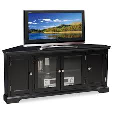 Corner Tv Unit Amazoncom Leick Black Hardwood Corner Tv Stand 56 Inch Kitchen