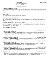 Student Resume Sample Good College Resume Examples Example Great