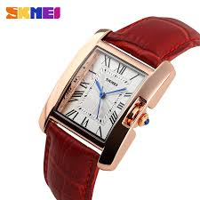 rose gold watch for women with leather band