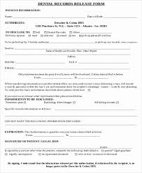 Sample Of Medical Records 30 Generic Medical Records Release Form Tate Publishing News