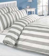 louisiana stripe duvet cover set 100 cotton 200 thread count grey white