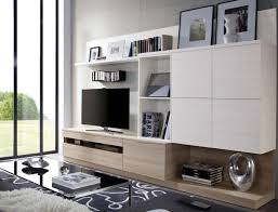 Contemporary Wall Storage System with Wall Cabinets and TV Unit