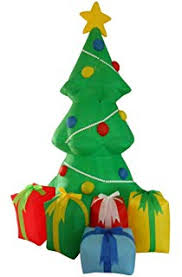christmas trees decorated with presents. Exellent Presents 5 Foot Inflatable Christmas Tree With Gift Boxes Yard Garden Decoration And Trees Decorated With Presents T
