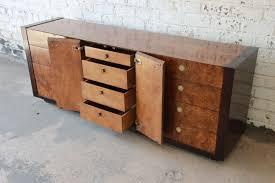 hollywood regency burled olive wood credenza by century furniture