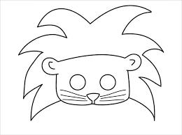 Jungle animals printable coloring masks, by. Animal Mask Template Animal Templates Free Premium Templates