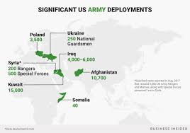 Maps Where 1 3 Million Us Troops Are Deployed Around The