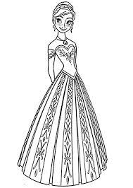 Frozen Anna Da Stampare E Colorare Con Stampare Disegni Da Colorare