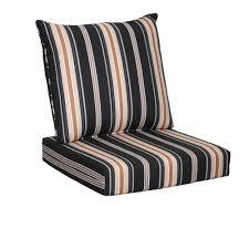 hampton bay ca stripe piece deep seating outdoor lounge chair seat cushion s full size