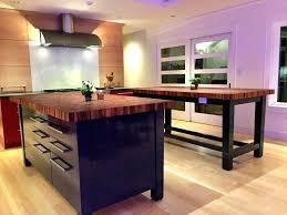 dark butcher block countertop home depot cost wood modern black kitchen island with bloc