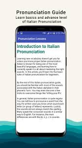 They tend to fall short of teaching you how to actually by the end of this italian pronunciation guide, you should be familiar with most of the sounds associated with the italian alphabet in their phonetic form. Italian Pronunciation For Android Apk Download