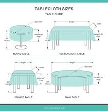 tablecloth sizes ilrated charts