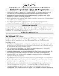 Resume Examples Software Engineer Template Senior Java Servere Job