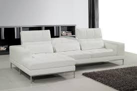 contemporary tile living room floor plus black rug idea and trendy white leather sectional sofa