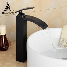 oil rubbed bronze bathroom fixtures. 2018 New Oil Rubbed Bronze Bathroom Faucets Tall Basin Faucet Black Sink Mixer Taps Square Single Handle Deck Mounted Water Lh 16989 From Hotbottle7, Fixtures