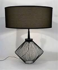 Vintage lighting mid century modern Hanging Image Is Loading Vintagemidcenturymodernmetalwiredcageframe Ebay Vintage Mid Century Modern Metal Wired Cage Frame Geometric Retro