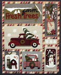 Christmas Truck Wool Quilt - Wool Applique Patterns - Winter Decor ... & Christmas Truck Wool Quilt - Wool Applique Patterns - Winter Decor - Farm  Fresh Trees # Adamdwight.com