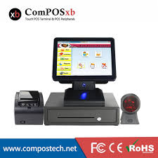 Point of sale 15'' high quality pos terminal pos system all in one cash ...