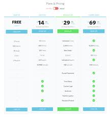 Pricing Table Design Inspiration Best Designed Pricing Tables for 2016