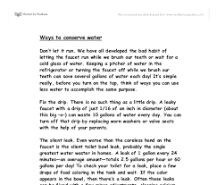 essay in water high school english essays