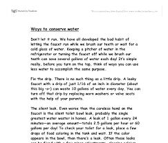 essay in water high school english essays
