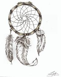 Native Dream Catchers Drawings Indian dream catcher tattoo on back for girls 29