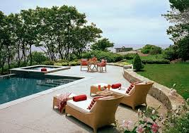 stamped concrete pool patio. Stamped Concrete Offers Both Style And Texture To The Pool Deck [Design: Siemasko + Patio