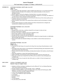 Systems Engineer Analyst Resume Samples Velvet Jobs