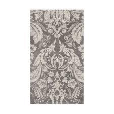 laura ashley connemara gray jacquard chenille 5 ft x 8 ft area rug