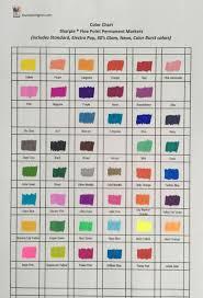 Touch Marker Chart Printable Sharpie Color Chart Bedowntowndaytona Com