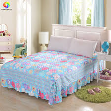 Home bedding 1pc Korean bed skirt thicken bed cover sheet queen