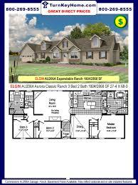 Commodore Homes Designs Elgin Au206a 3 Bed 2 Bath Ranch Plan 1804 Sf