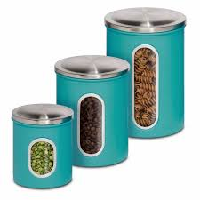 Kitchen Storage Canisters Amazoncom Honey Can Do Kch 01312 3 Piece Metal Nested Canister