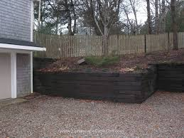 railroad tie retaining wall cost u56 about awesome home decor ideas with railroad tie retaining wall